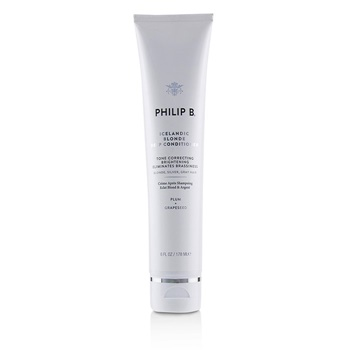 Philip B Icelandic Blonde Deep Conditioner (Tone Correcting Brightening Eliminates Brassiness - Blonde, Gray, Silver Hair)
