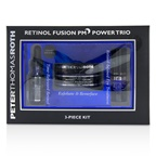 Peter Thomas Roth Retinol Fusion PM Power Trio Kit: Overnight Resurfacing Pads 20 pads + Night Serum 12ml/0.4oz + Eye Cream 7ml/0.24oz
