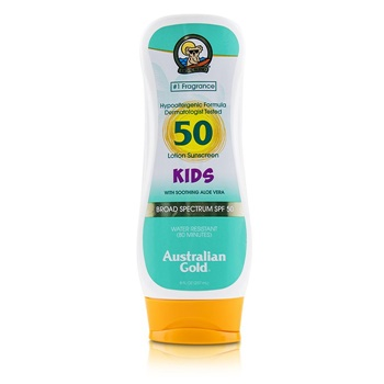Australian Gold Lotion Sunscreen Broad Spectrum SPF 50 with Soothing Aloe Vera - For Kids