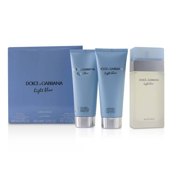 Dolce & Gabbana Light Blue Coffret:EDT Spray 100ml/3.3oz + Body Cream 100ml/3.3oz + B & S Gel 100ml/3.3oz
