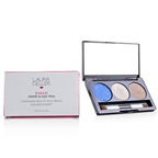 Laura Geller Baked Cream Glaze Trio Eyshadow Palette With Brush - # Sandy Lagoon