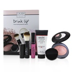 Laura Geller Drink Up 4 Piece Hydrating Essentials Collection (1x Primer, 1x Blush, 1x Lip Gloss, 1x Brush)