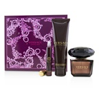 Versace Crystal Noir Coffret: EDT Spray 90ml/3oz + Bath & Shower Gel 150ml/5oz + EDT Roller Ball 10ml/0.3oz