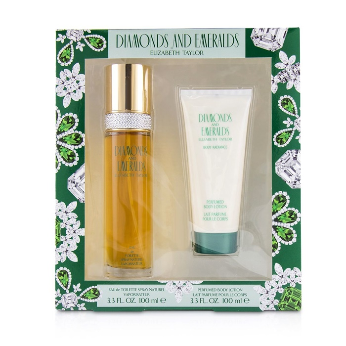 Elizabeth Taylor Diamond & Emerald Coffret: EDT Spray 100ml/3.3oz + Perfumed Body Lotion 100ml/3.3oz