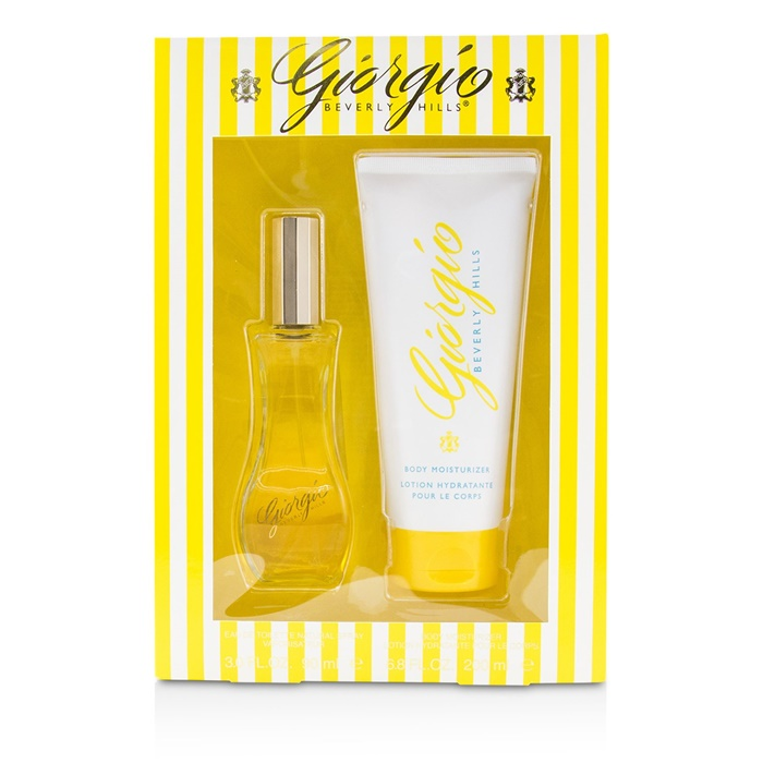 Giorgio Beverly Hills Giorgio Coffret: EDT Spray 90ml/3oz + Body Moisturizer 200ml/6.8oz