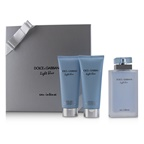 Dolce & Gabbana Light Blue Eau Intense Coffret: EDP Spray 100ml/3.3oz + Refreshing Body Cream 100ml/3.3oz + Energy Body Bath & Shower Gel 100ml/3.3oz
