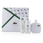 Lacoste Eau De Lacoste L.12.12 Blanc Coffret: EDT Spray 100ml/3.3oz + Deodorant Stick 75ml/2.4oz + Shower Gel 50ml/1.6oz