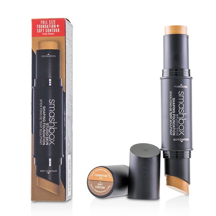 Smashbox Studio Skin Shaping Foundation + Soft Contour Stick - # 3.2 Cool Medium Beige