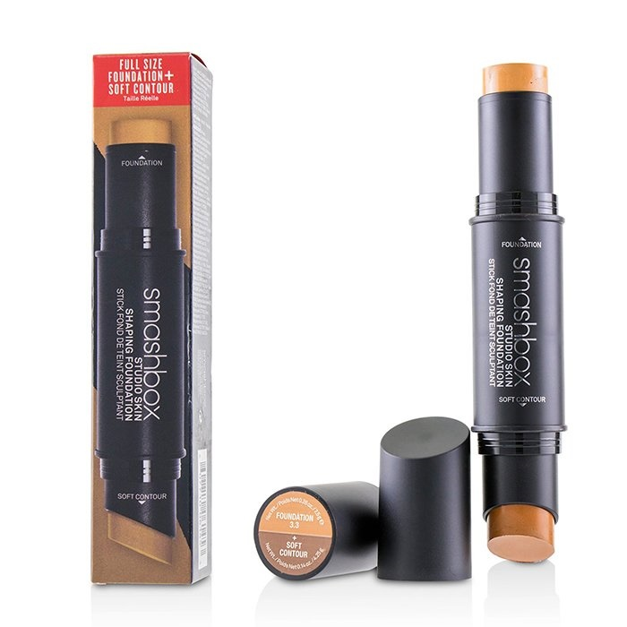 Smashbox Studio Skin Shaping Foundation + Soft Contour Stick - # 3.3 Warm Medium Beige