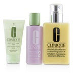 Clinique 3-Step Skincare System (Skin Type 2): DDML+ 200ml + Clarifying Lotion 2 60ml + Liquid Facial Soap Mild 30ml