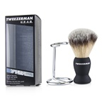 Tweezerman G.E.A.R. Deluxe Shaving Brush with Stand