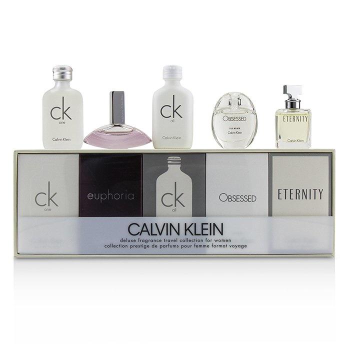 98411681 Calvin Klein Miniature Coffret: CK One EDT 10ml + Euphoria EDP 4ml + CK All  EDT 10ml + Obsessed EDP 5ml + Eternity EDP 5ml Ladies Fragrance
