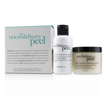 Philosophy The Microdelivery Peel: Lactic/Salicylic Acid Activating Gel 118ml + Vitamin C/Peptide Resurfacing Crystals