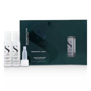AlfaParf Semi Di Lino Reconstruction Reparative Lotion - Damaged Hair (Box Slightly Damaged)