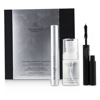 RevitaLash Lash Perfecting Gift Collection : ( 1x Eyelash Conditioner, 1x Conditioning Eye Makeup Remover, 1x Volumizing Masacara Black)