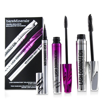 BareMinerals Lash Domination Volumizing Mascara & Ink Liner Trio (2x Mascara, 1x Eyeliner)