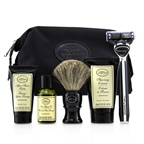 The Art Of Shaving The Four Elements of The Perfect Shave Set with Bag - Unscented: Pre Shave Oil + Shave Crm + A/S Balm + Brush + Razor