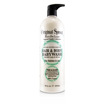 Original Sprout Natural Family Collection Hair & Body Baby Wash With Pure Soothing Moisture (For Babies & Up)