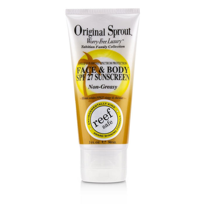 Original Sprout Tahitian Family Collection Face & Body SPF 27 Non-Greasy Suncreen