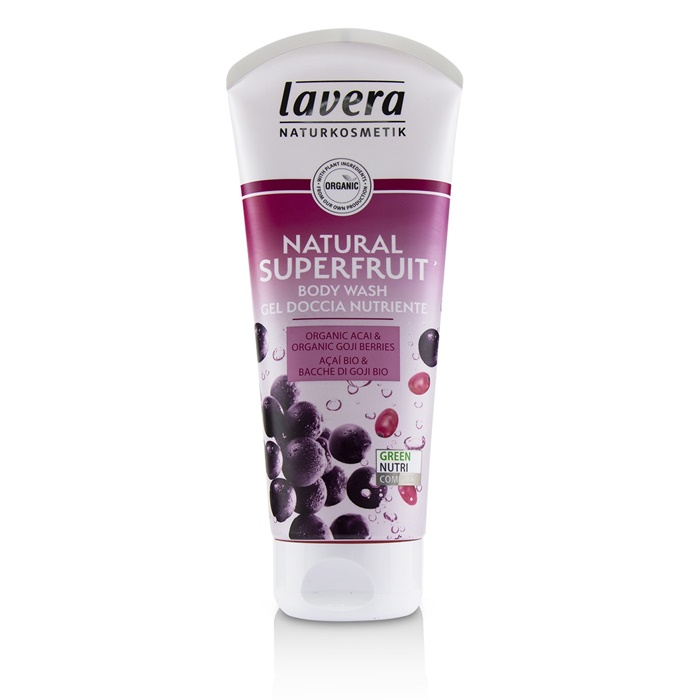 Lavera Body Wash - Natural Superfruit (Organic Acai & Organic Goji Berries)