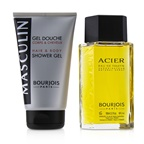 Bourjois Masculin Coffret: Acier EDT Spray 100ml+Hair & Body Shower Gel 150ml/5oz