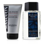 Bourjois Masculin Coffret: Jeux De Nuit EDT Spray 100ml/3.3oz + Hair & Body Shower Gel 150ml/5oz