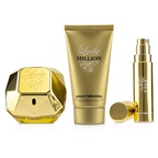 Paco Rabanne Lady Million Coffret: EDP Spray 80ml/2.7oz + Sensual Body Lotion 75ml/2.5oz + EDP Travel Spray 10ml/0.34oz