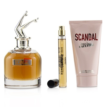Jean Paul Gaultier Scandal Coffret: EDP Spray 80ml/2.7oz + Perfumed Body Lotion 75ml/2.5oz + EDP Spray 10ml/0.34oz