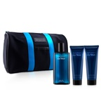 Davidoff Cool Water Coffret: EDT Spray 125ml + After Shave Balm 75ml + Shower Gel 75ml +Toilet Bag