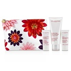 Clarins Body Care Collection: Moisture-Rich Body Lotion 200ml+ Exfoliating Body Scrub 30ml+ Hand & Nail Treatment Cream 30ml