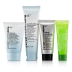 Peter Thomas Roth Jet, Set, Facial ! 4-Piece Kit: 1x Cleanser 30ml + 1x Moisturizer 20ml + 1x Cucumber Gel Mask 14ml + 1x Peeling Gel 15ml