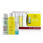 Clarins Perfect Cleansing Set (Normal or Dry Skin): Cleansing Milk 200ml+ Toning Lotion 200ml+ Eye Make-Up Remover 30ml+ Bag