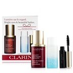 Clarins Restoring Eye Wonders Set: Super Restorative Eye 15ml + Instant Make-Up Remover 30ml + Mascara Super Volume 3.5ml
