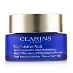 Clarins Multi-Active Night Targets Fine Lines Revitalizing Night Cream - For Normal to Dry Skin (Box Slightly Damaged)