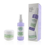 Mario Badescu Lavender Mask & Mist Duo Set: Flower & Tonic Mask 2 oz + Facial Spray With Aloe, Chamomile And Lavender 4oz