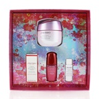 Shiseido Beauty Blossoms White Lucent Brightening Gel Cream Set: Brightening Gel Cream 50ml + Cleansing Foam 5ml + Softener Enriched 7ml + Ultimune Concentrate 10ml