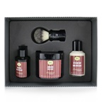 The Art Of Shaving 4 Elements Shaving Full Size Kit - Sandalwood: Pre-Shave Oil 60ml + Shaving Cream 150ml + After-Shave Balm 100ml + Genuine Badger Brush