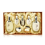Whoo (The History Of Whoo) Cheongidan Radiant Special Set: Balancer (150ml + 25ml), Emulsion (110ml + 25ml), Essence 8ml. Cream 10ml, Eye Cream 5ml
