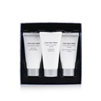 Shiseido Total Age Defense 3-Pieces Set: Cleansing Foam 30ml + Cleansing Scrub 30ml + Revitalizer Cream 30ml