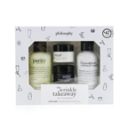 Philosophy The Wrinkle Takeaway Set: Line-Correcting Moisturizer 15ml +  Line-Correcting Overnight Cream 15ml + Facial Cleanser 120ml + Micro-Exfoliating Wash 120ml