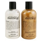 Philosophy Chocolate-Dipped Shortbread Cookie 2-Pieces Gift Set: Shampoo, Shower Gel & Bubble Bath 240ml + Body Lotion 240ml