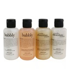 Philosophy Sweetest Party Favors 4-Pieces Git Set: Vanilla Chocolate Cumble (Shampoo, Shower Gel & Bubble Bath 120ml + Body Lotion 120ml ) +   Bubbly (Shampoo, Shower Gel & Bubble Bath 120ml + Body Lotion 120ml)