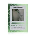 Tweezerman Merry Mint Brow & Lash Set (Metallic Collection)