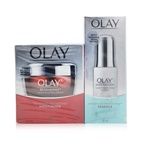 Olay Anti-Aging & Radiance Duo Set: White Radiance Light Perfecting Essence 30ml + Regenerist Advanced Anti-Ageing Moisturiser 50g