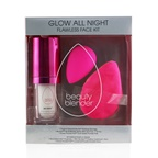 BeautyBlender Glow All Night Flawless Face Kit: Original Beautyblender + Setting Mist + Dual Sided Powder Puff (Exp. Date 15/04/2021)