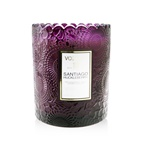 Voluspa Scalloped Edge Candle - Santiago Huckleberry