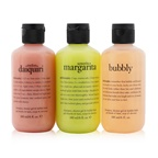 Philosophy Congrats! 3-Piece Shower Gel Set: 1x Senorita Mrgarita 180ml + Melon Daiquiri 180ml + Bubby 180ml (Box Slightly Damaged)
