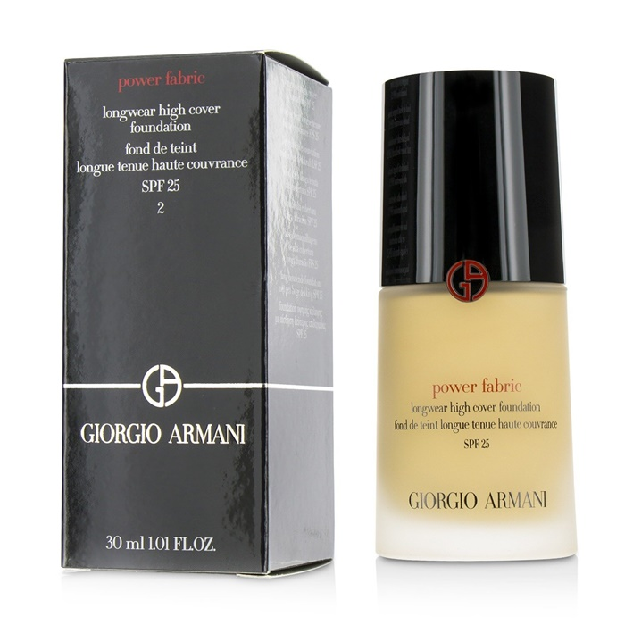 Giorgio Armani Power Fabric Longwear High Cover Foundation SPF 25 - # 2 (Fair, Golden) (Exp. Date 02/2021)