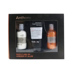 Anthony Face It & Go Kit: Glycolic Facial Cleanser 100ml + All Purpose Facial Moisturizer 90ml + Facial Scrub 100ml