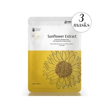 Timeless Truth Sunflower Brightening & Anti-Aging Bio cellulose Mask (3 Masks)